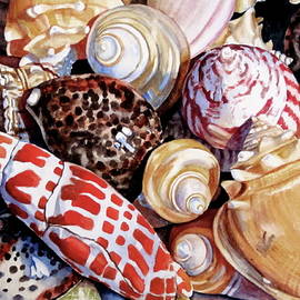 Lillian  Bell - Seashells in watercolor