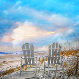 Seaside Aquas and Whites by Debra and Dave Vanderlaan