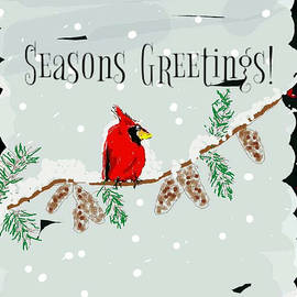 Kathy Barney - Seasons Greeting Cardinal