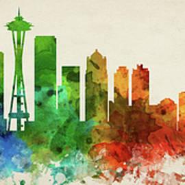 Seattle Skyline Panorama USWASE-PA03 - Aged Pixel