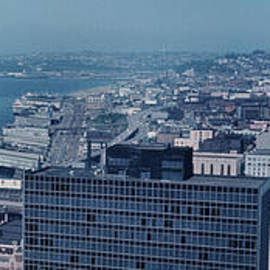 Seattle Waterfront from Smith tower to the Space Needle 1966 by Mr Pat Hathaway Archives