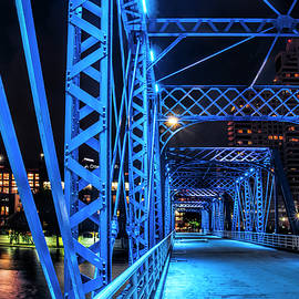 Randall Nyhof - Section of the The Blue Walking Bridge at Night