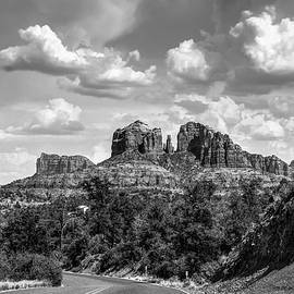 Gregory Ballos - Sedona Arizona Black and White Landscape - Cathedral Rock