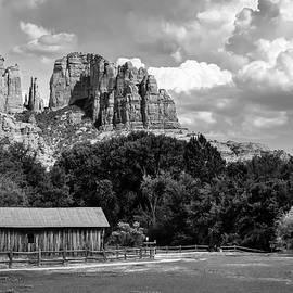 Sedona Mountain Landscape - Monochrome Edition by Gregory Ballos