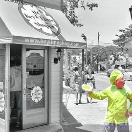 Selective Color Key Lime Pie Man by Janette Boyd