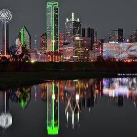 Selective Color Night in Dallas by Frozen in Time Fine Art Photography