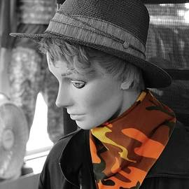 Selective color scarf by JP Morris