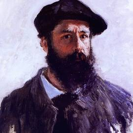 Self Portrait In Beret Claude Monet 1886 by Claude Monet