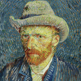 Self Portrait With Grey Felt Hat Van Gogh 1887 by Vincent Van Gogh