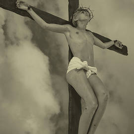 Ramon Martinez - Sepia old crucifix I