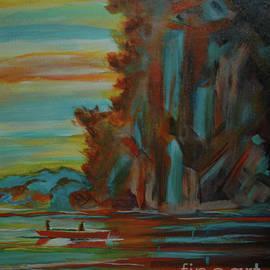 Kathy Carlson - Serenity at Sunset Abstract