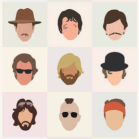 Seventies Movie Dudes by Mitch Frey