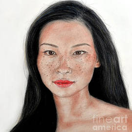 Jim Fitzpatrick - Sexy Freckle Faced Beauty Lucy Liu