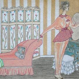 Jayne Somogy - Shabby Chic -- Art Deco Interior w/ Fashion Figure