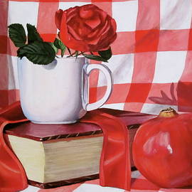 Lillian Bell - Shades of Red Book and Pomegranate