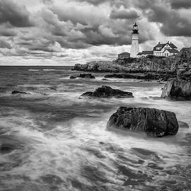 Shadows On Cape Neddick by Jon Glaser