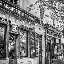 Shakespeare and Company Bookstore, Paris, Blk and Wht by Liesl Walsh