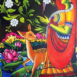 Shakuntala Indian Mural Painting by Asp Arts