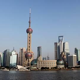 Shanghai Skyline by Thomas Marchessault