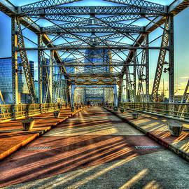Reid Callaway - Shapes And Shadows The John Seigenthaler Pedestrian Bridge Nashville Tennessee Art
