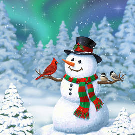 Crista Forest - Sharing The Wonder - Christmas Snowman and Birds