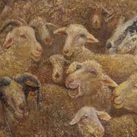 Sheep and Goats 2 by Sylva Zalmanson