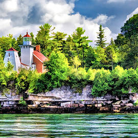 Sherwood Point Lighthouse In Door County by Christopher Arndt