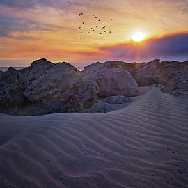 Shifting Sands in Ventura by Lynn Bauer