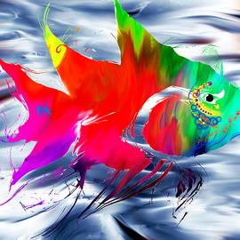 Abstract Angel Artist Stephen K - Shimmering Freedom, tropical fish