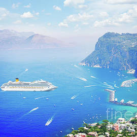Anastasy Yarmolovich - ship Capri island, Italy