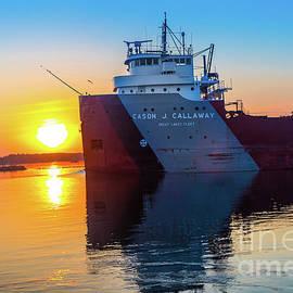 Norris Seward - Ship Cason J. Callaway Sunrise -1420