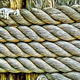 Ship Rope Anchored by Roxy Hurtubise