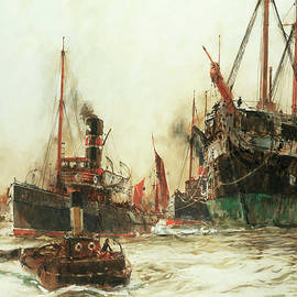 Shipping in the Pool of London - Charles Edward Dixon