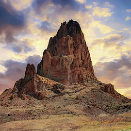 Gregory Ballos - Shiprock Monolith Sunset - Monument Valley - American Southwest