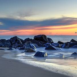 Bob Cuthbert - Shoreline Rocks at Dawn