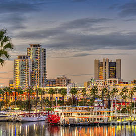 Shoreline Village Rainbow Harbor Marina by David Zanzinger