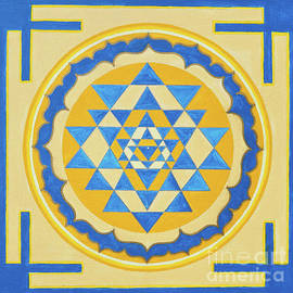 Shri Yantra For Meditation Painted by Raimond Klavins