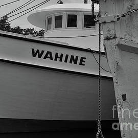 Shrimp Boat Pilot House In Black And White by Dale Powell