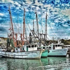 Shrimp Boats by Donald Paczynski