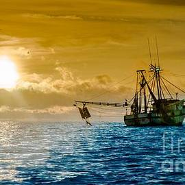 Jim DeLillo - Shrimp Trawler at Dawn