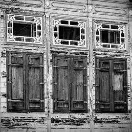 Joan Carroll - Shuttered and Peeling Palace BW