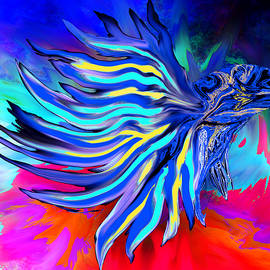 Siamese Fighting Fish by Abstract Angel Artist Stephen K