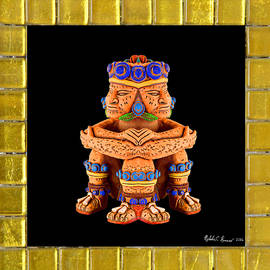 Nicholas Romano - Siamese Seated Aztec Warriors