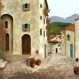 side streets of Tuscany