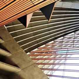 Sidney Opera House Interior Angles by Barbara Ebeling