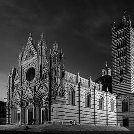 Joan Carroll - Siena Italy Cathedral BW