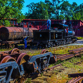 Sierra Railway Train 3 Roundhouse - Garry Gay