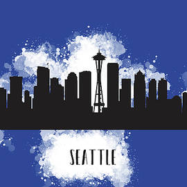 Anna Maloverjan - Seattle skyline silhouette