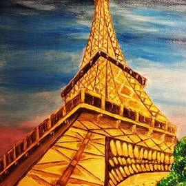 Eiffel Tower Looking Up by Irving Starr