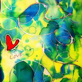 Alexandra Jordankova - Silk Painting With a Heart